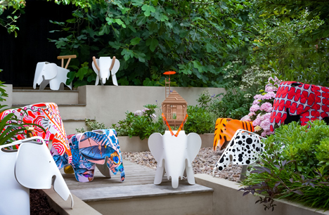 Vitra Eames Elephants customised for A Child's Dream charity project