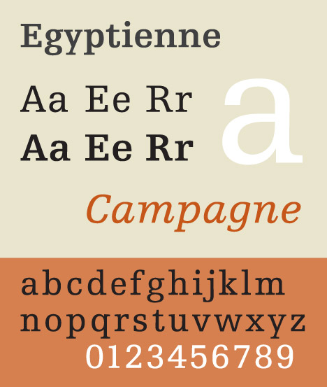 Adrian Frutiger's Egyptienne typeface