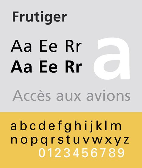 Adrian Frutiger's Frutiger typeface