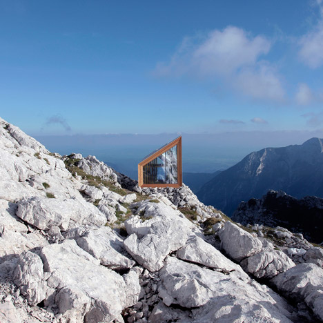 Slovenian mountain cabin by OFIS and Harvard students shelters climbers from extreme weather