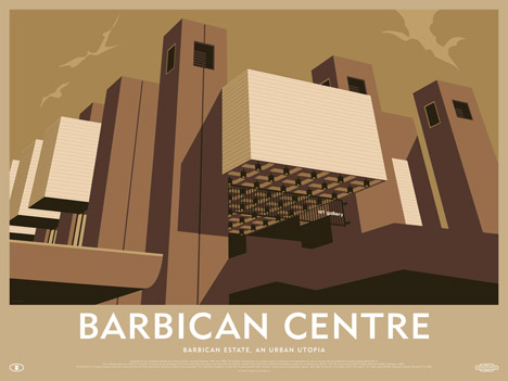Barbican Centre poster by Dorothy