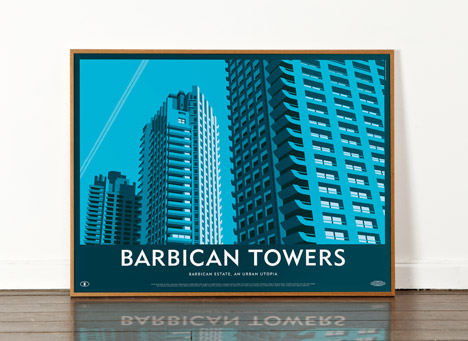 Barbican Towers poster by Dorothy