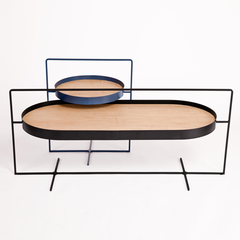 Mario Tsai's Basket Tables can be easily moved into new locations