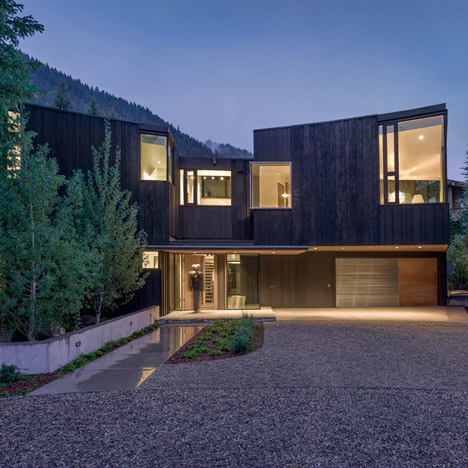 Will Bruder clads a mountain home in Aspen with charred cypress