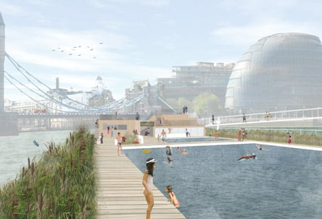 City Hall Thames baths in London by Studio Octopi