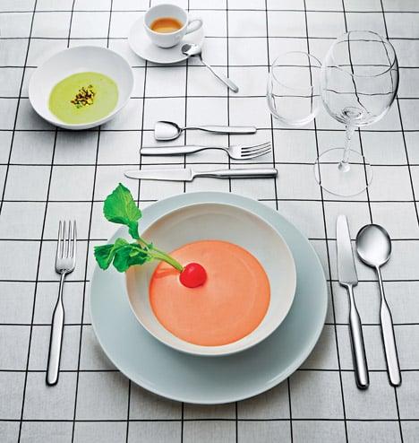 Inga Sempé designs Collo-alto cutlery set for Alessi