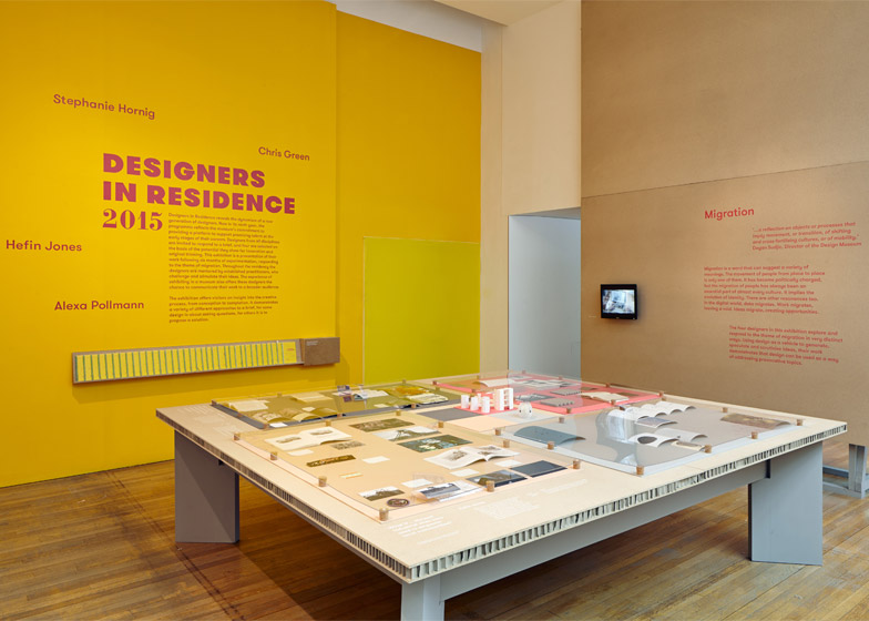 Designers in Residence exhibition at the Design Museum