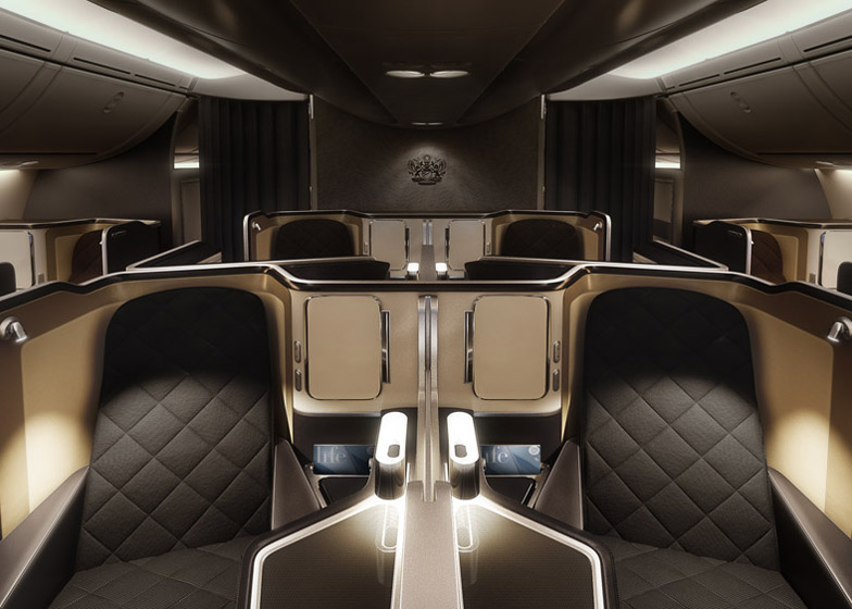 Dreamliner interior for British Airways by Forpeople