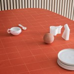 Andreas Engesvik's hand-drawn grids inform textile patterns for Georg Jensen Damask
