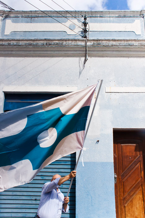 Florianopolis Design Biennale flags by Thonik