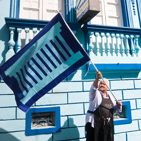 Thonik and Pieke Bergmans create flags based on Brazilian architecture for design biennial