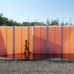 Visitors must wear rain boots to explore Get Wet installation at Quebec garden festival