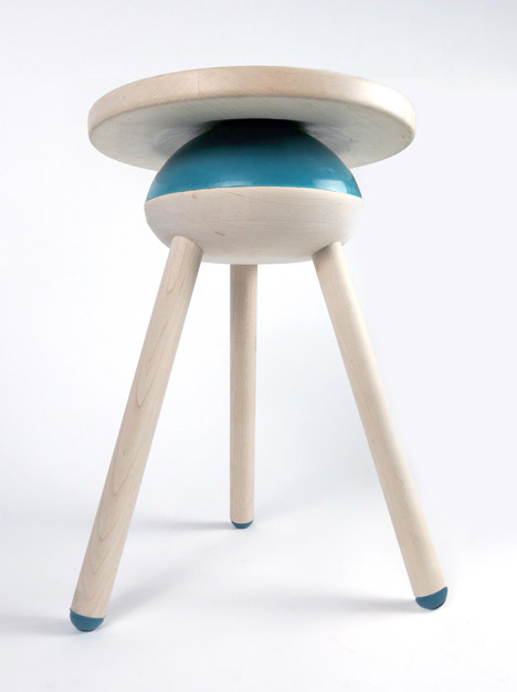 Oblio stool by Meg Czaja