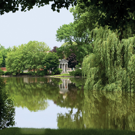 Graceland Cemetery by several architects including William Saunders Le Baron Jenney