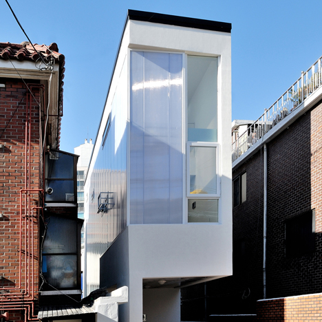 Three-metre-wide house in Seoul by AIN Group accommodates three individual residents
