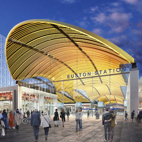 HS2 Euston expansion entrance Grimshaw architects
