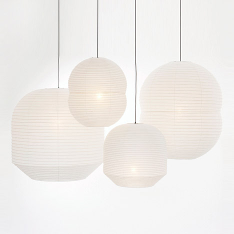 Barber and Osgerby turns to traditional Japanese craft for Hotaru lighting collection