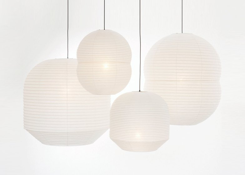 Horatu paper lanterns by Barber and Osgerby