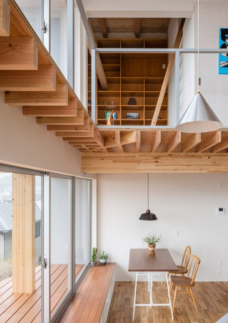Snark and Ouvi's house for an illustrator features exposed wooden beams
