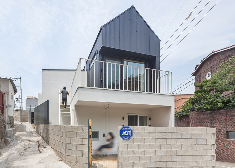 House In Seoul By Obba Features A Loft For Cats