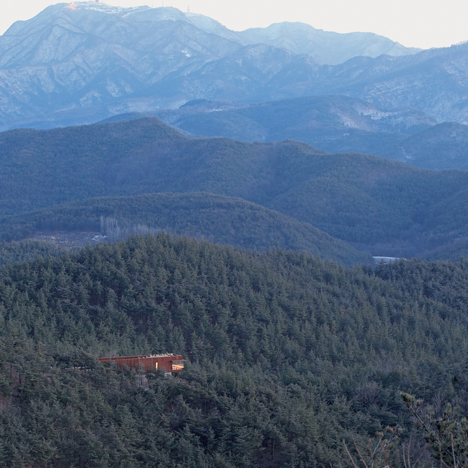 Seung H-Sang clads South Korean mountain house in pre-rusted steel