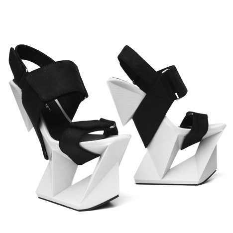 United Nude unveils Ice shoes with eight-inch 3D-printed heels