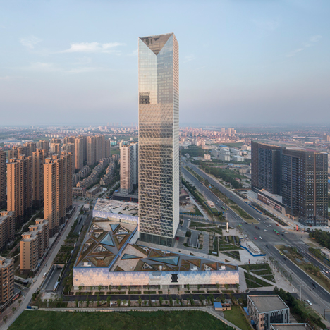 Jiangxi Nanchang Greenland Zifeng Tower by SOM