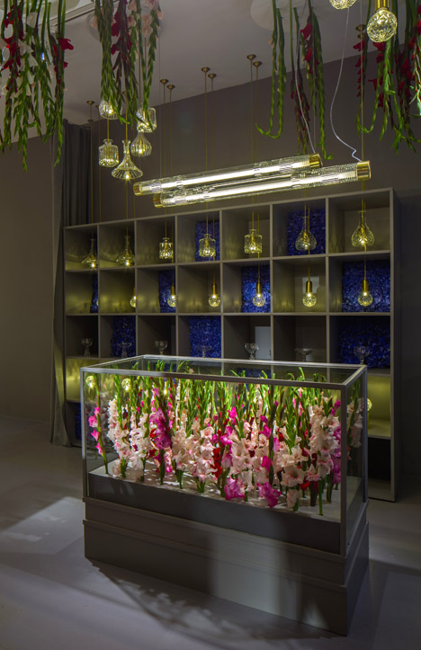 lee broom creates floral installation for the flower shop