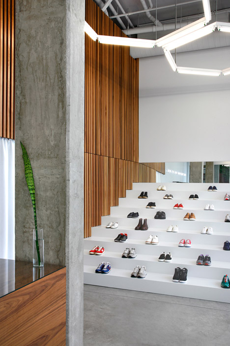 The firm set out to create a relaxed but refined atmosphere that puts the focus on its selection of high-end sneakers and a small selection of watches