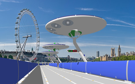 London Thames Deckway floating cycle path by Make Happy