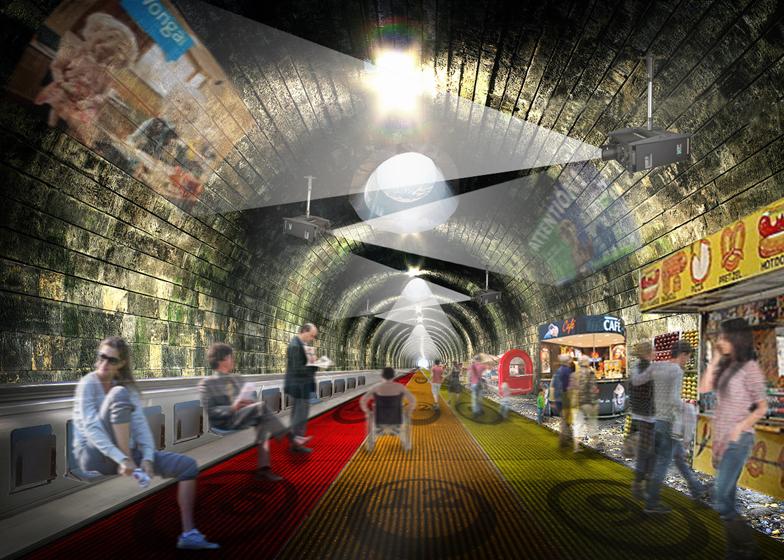 NBBJ London Underground walkway travelator