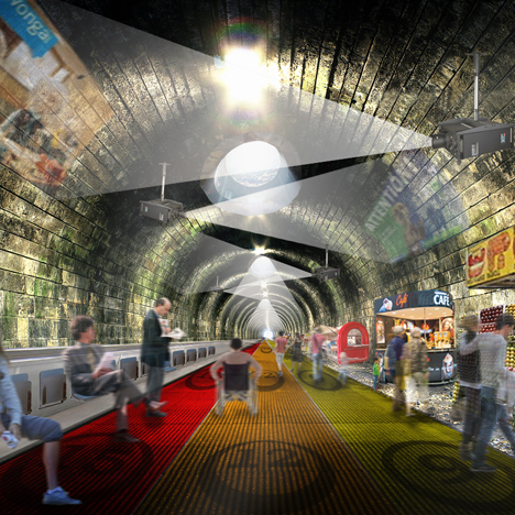 NBBJ proposal replaces London Underground's Circle Line with giant travelator