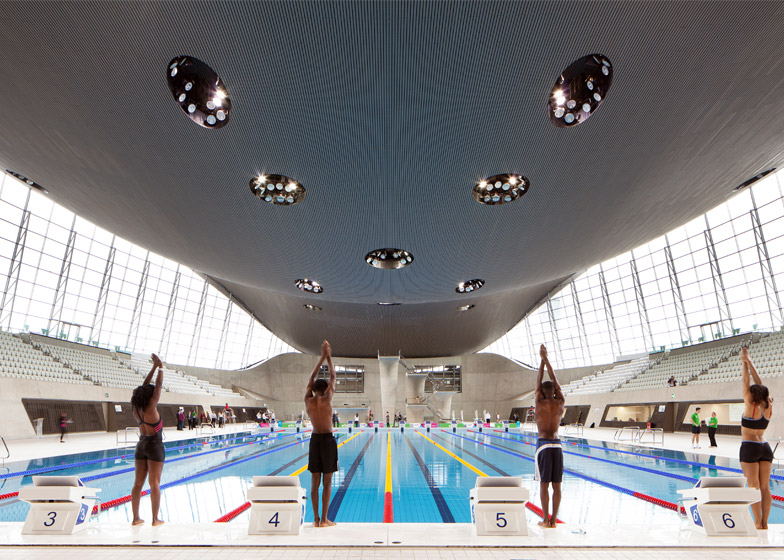 London Aquatics Centre. Photograph by Luke Hayes