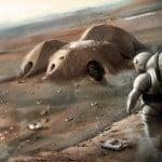 Foster + Partners reveals concept for 3D-printed Mars habitat built by robots