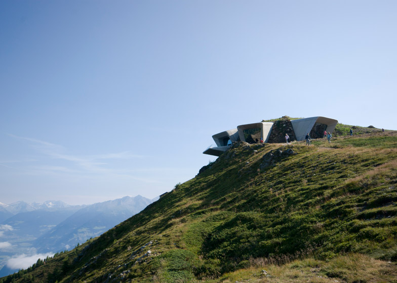 Messner Mountain Museum, Mount Kronplatz. Rendering by inexhibit.com