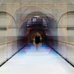 Matteo Fogale and Laetitia de Allegri install tinted acrylic tunnel across V&A bridge