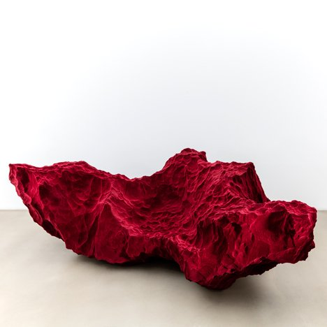 Fredrikson Stallard creates crumpled metal and rock-like furniture for Momentum collection