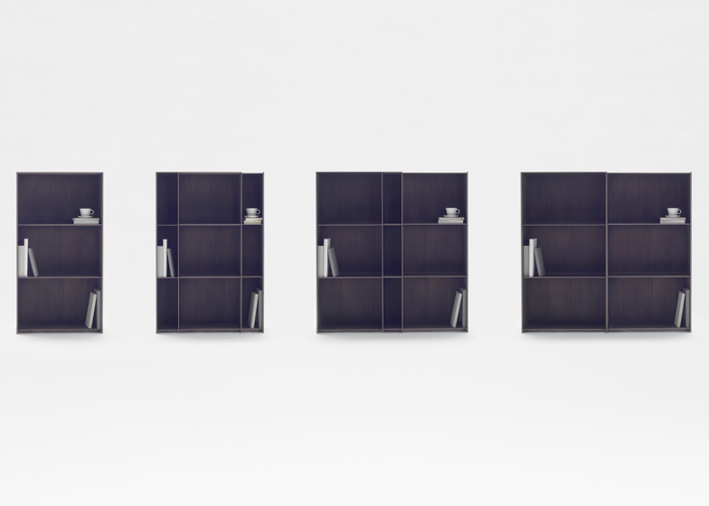 Nendo's expandable Nest shelves are embedded with carbon fibre