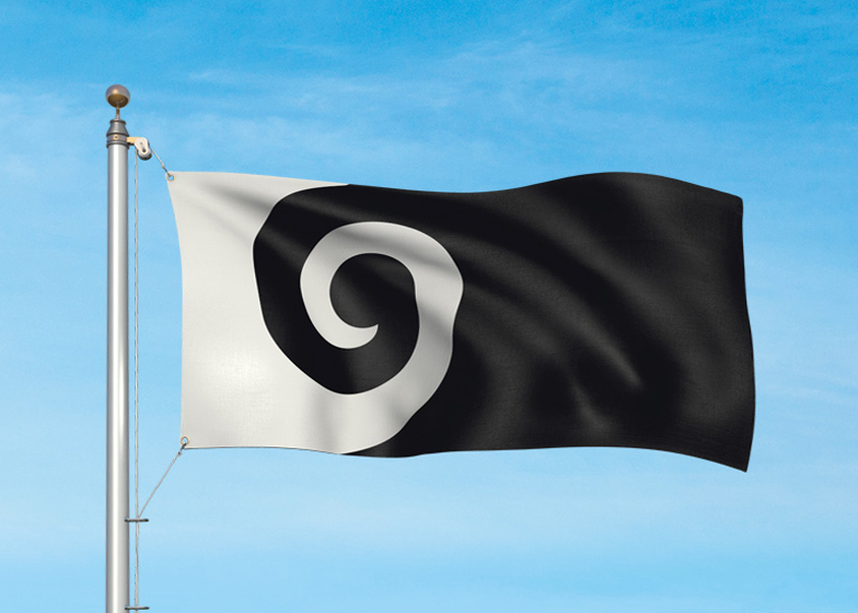 New Zealand potenial flag design: Koru by Andrew Fyfe