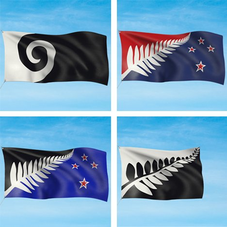 New Zealand four potential flag designs shortlist
