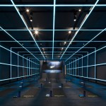 Coordination Asia uses neon grids to transform a Beijing art gallery into a gym for Nike
