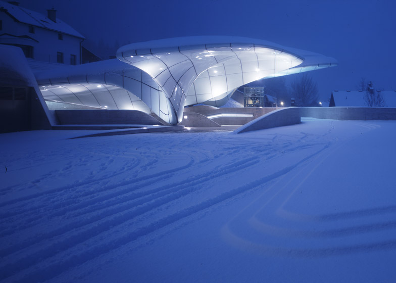 Nordpark Railway Stations, Innsbruck. Photograph by Werner Huthmacher