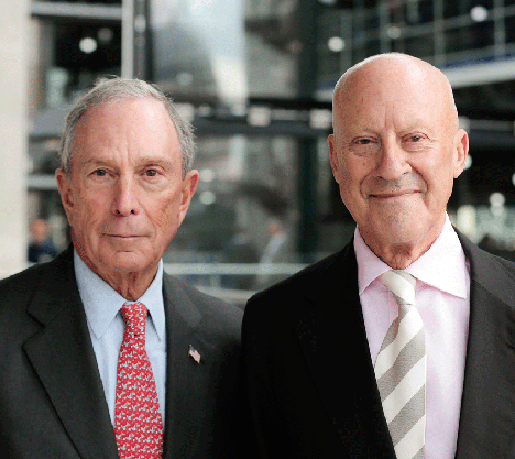 Norman Foster and Mike Bloomberg