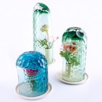 Bilge Nur Saltik's glass OP-vases create kaleidoscopic floral effects