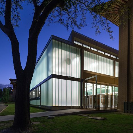 Townsend + Associates encloses a swimming pool in a glazed box at Chinese embassy in Australia