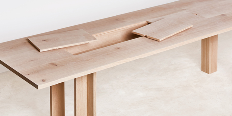 Planks furniture collection by Max Lamb for Benchmark