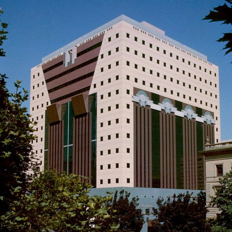 Postmodern architecture: the Portland Municipal Services Building, Oregon, by Michael Graves
