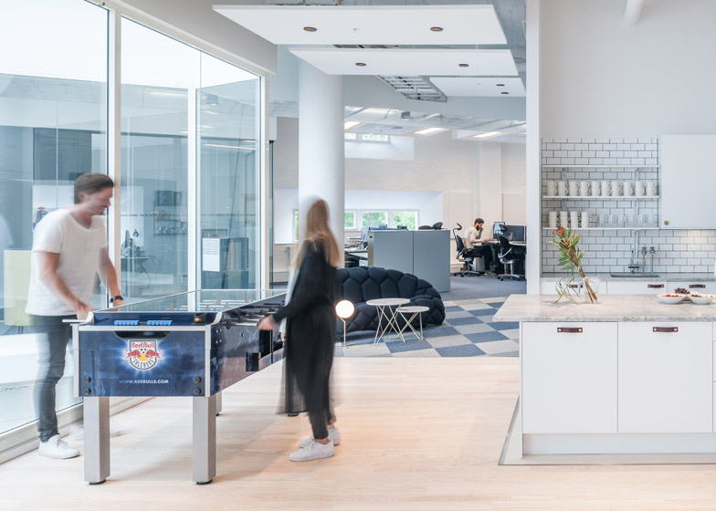 Red Bull Offices red bull's stockholm office features modular mobile furniture