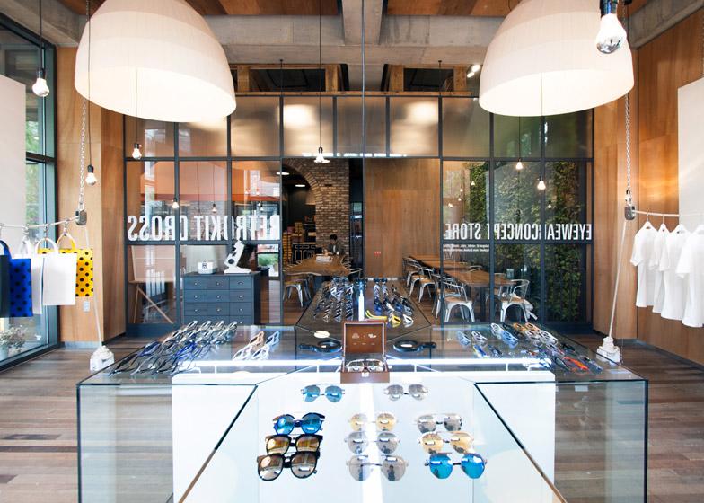 Retrokit Cross eyewear store by NBDC