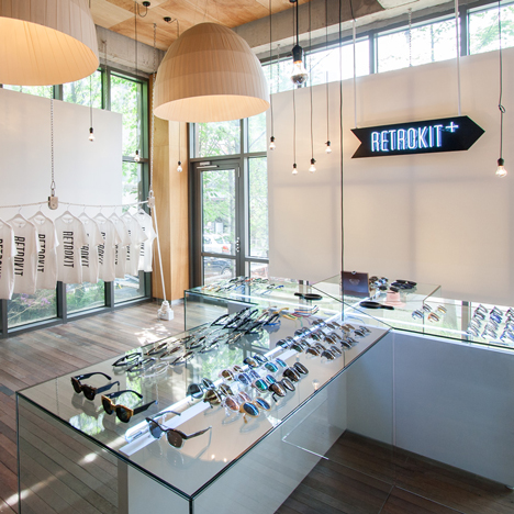 Retrokit Cross eyewear store by NBDC